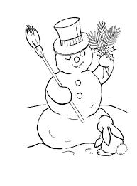 snowman coloring pages coloringsuite