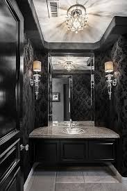Gray And Black Bathroom Ideas Best 25 Black Powder Room Ideas On Pinterest Black Bathroom