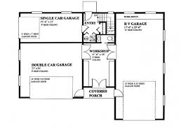 Rv Garage Floor Plans Rv Garage With Privately Accessed Apartment Hwbdo76306