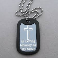 in loving memory dog tags simple cross aluminum dog tag memorial necklace my forever child