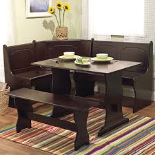 kitchen table round corner bench set glass live edge 2 seats pine