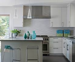 cool backsplash white cabinets minimalistic kitchen style of
