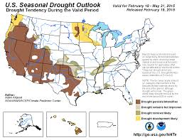 United States Drought Map by Climate Prediction Center United States Seasonal Drought