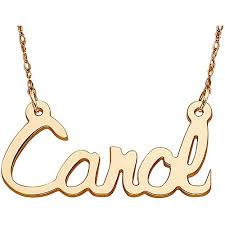 Name Chain Personalized Women U0027s 10kt Gold Script Name Necklace 18