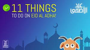 11 things to do on eid al adha 2016