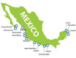 mexico west coast resorts map mexico map