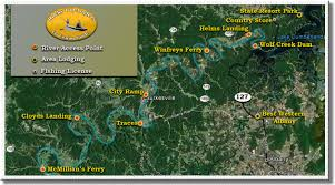 cumberland river map rocky top anglers cumberland river