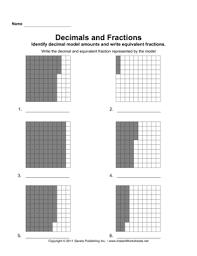 decimal fraction models 2 u2014 instant worksheets