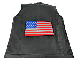 2nd Amendment Flag Reflective American Flag In Color Large 10 Inch Back Patch