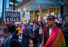 Vancouver Flag Hundreds Of Anti Trump Protesters Gather In Vancouver Toronto Star