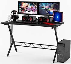 atlantic furniture gaming desk black carbon fiber best gaming desks available for 2018
