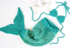 knitting pattern baby mermaid tail blanket 5 sizes newborn 1