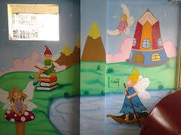 Cartoon Wall Painting In Bedroom Kids Wall Decor Ideas For Fun Seasons Of Home Kid Bedroom Interior
