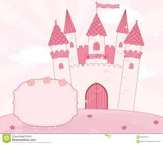 cartoon fairy castle on a cloud royalty free stock photos image