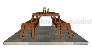 Diy Collapsible Picnic Table folding picnic table plans howtospecialist how to build step