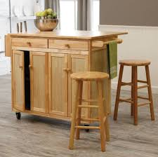 Wood Kitchen Island Table Kitchen Remarkable Wooden Kitchen Island With Stools On Four