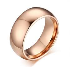 ring plain 8mm gold tungsten carbide rings tungsten steel plain simple
