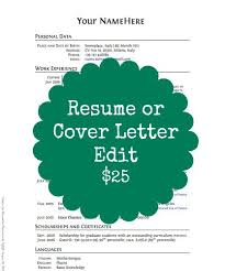resume and cover letter edits write2advance