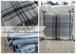 Pillows Ikea by Ikea Hack Diy Plaid Pillows From A Throw City Farmhouse