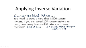 inverse variation problems video algebra ck 12 foundation