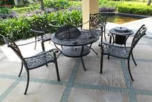 Bbq Tables Outdoor Furniture by Popular Metal Garden Table Chair Sets Buy Cheap Metal Garden Table