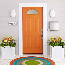 orange painted exterior front door ways to paint your exterior