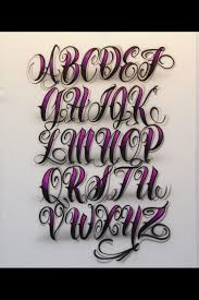 collection of 25 tattoo lettering