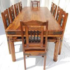 rustic solid wood dining table rustic solid wood large dining room table chair set affordable