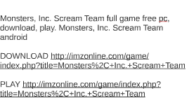 monsters scream team game free pc download play