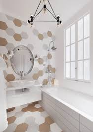 creative way to decorate white bathroom designs beautified with a