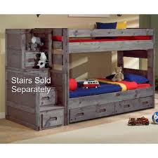 Fort Driftwood Rustic TwinoverTwin Bunk Bed RC Willey - Images for bunk beds