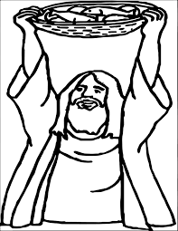 5 loaves and 2 fish god prayer coloring page wecoloringpage