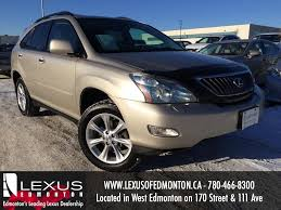 lexus 350 sedan used used gold 2008 lexus rx 350 4wd review stettler alberta youtube