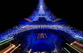 eiffel tower christmas lights blue lights eiffel tower two of my favorite things beauty is in