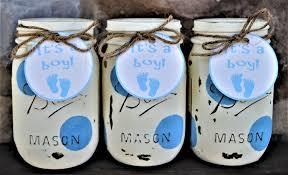 baby boy shower mason jars baby shower centerpieces shabby