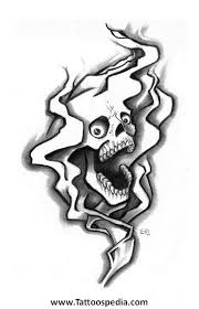skull n smoke tattoos 5