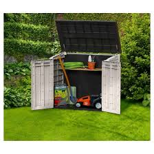 store it ot midi resin horizontal outdoor storage shed beige