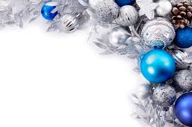 silver and blue balls photo free