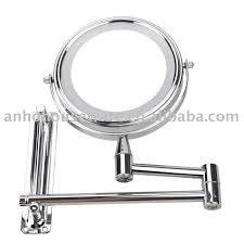 bathroom interesting lighted makeup mirror with swing arm legs