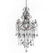 Country French Chandelier by Kristiana French Country Crystal Smoke 6 Light Chandelier Kathy