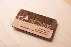 laser engraved wood business cards