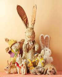 stuffed bunnies for easter bunny collectibles martha stewart