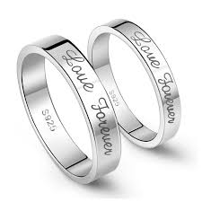 love rings silver images 925 sterling silver forever love simple style couple rings price jpg