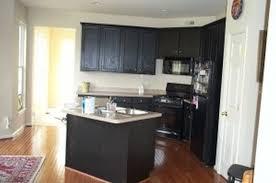 Two Toned Kitchen Interior Interesting Interior Design Small Apartment By White Blue Sofa