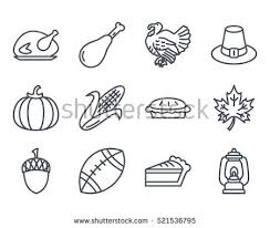 thanksgiving day icon outlined line stock vector 521536795