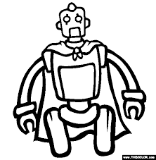 tom robot coloring free tom robot coloring