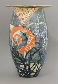 Studio Pottery Vase A Studio Pottery Vase By Jean Paul Landreau With Sgraffito