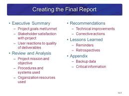 closure report template project closure report executive summary professional and high