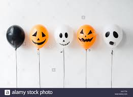 scary air balloons decoration for halloween party stock photo