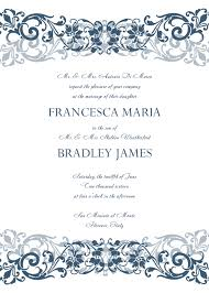 sle wedding programs templates free wedding invitation sle rectangle white blue floral pattern with